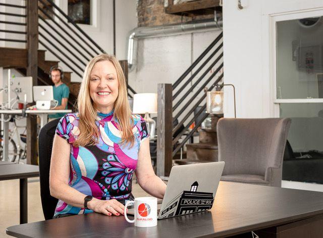 Katharine Chestnut, Founder of Alkaloid Networks coworking on the Atlanta Beltline