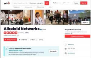 Alkaloid Networks Yelp Listing