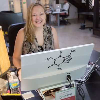 Katharine Chestnut Founder of Alkaloid Networks Coworking on the Atlanta Beltline